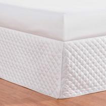 Saia para Cama Box Requinte Queen Especial Branco - Markine - Branco - Sulamita