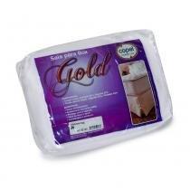 Saia para Cama Box SOLTEIRO Gold Lisa Branco - 078x188 - Bela