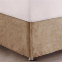 Saia para Cama Casal Corttex Home Design Suede Castor - Corttex