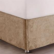 Saia para Cama King Corttex Home Design Suede - Diversas Cores -