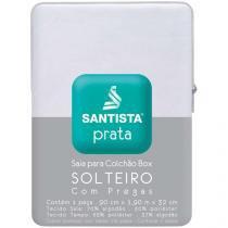 Saia para Cama Solteiro Prata - 90x190cm - Santista