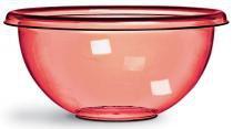 Saladeira Redonda 34x16,5 Plástico Crystal Vermelha 440-5 - Niquelart -