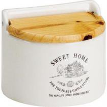 Saleiro de Dolomita para Parede Com Tampa De Madeira Sweet Home 620ml - Bon Goumert - Rojemac