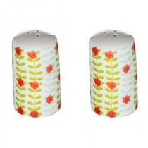 Saleiro e pimenteiro em porcelana Floral - Urban