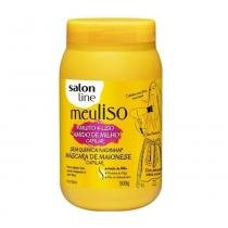 Salon line meu liso amido de milho capilar máscara maionese 500gr -