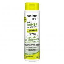 Salon Line - S.O.S Bomba de Vitaminas - Shampoo DETOX 300ml - Salon Line