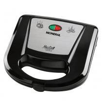 Sanduicheira e Grill Mondial Mac Grill Inox S11 Preto 127v -