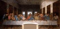 Santa Ceia Da Vinci Tela Para Quadro 50x101 Super Oferta - Santhatela