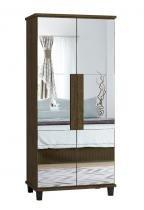 Sapateira com Espelho Requinte Imbuia - RV Móveis - RV Móveis