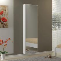 Sapateira Compacta com Espelho e 5 prateleiras para 12 Pares Itabuna - Branco - Politorno