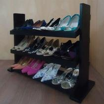 Sapateira de Piso para Closets e Quartos 12 Pares Sapatos - Preto - Formalivre