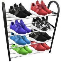 Sapateira Organizador de Sapatos Tenis 16 Sapatos Desmontavel Movel Preto (TRC7250) - Top rio