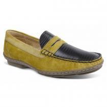 7ec8b40da Sapato masculino loafer sandro moscoloni michelangelo mostarda/preto yellow  mostard -