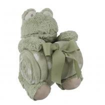 Sapo De Pelúcia Com Cobertor Para Bebê - Shiny Love
