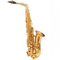 Saxofone Alto WASM48 EB Duplo Dourado - Michael - Michael