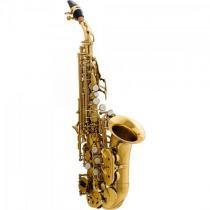 Saxofone soprano curvo bb hcssc-310gl laqueado harmonics -