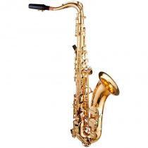 Saxofone Tenor Dolphin com Acabamento Laqueado e Afinação em Mi Bemol - Dolphin