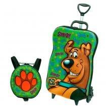 Scooby Doo Kit Mochila 3D com Rodas + Lancheira - Diplomata - Scooby Doo