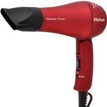 Secador Titanium Travel 2 velocidades Vermelho Bivolt - Philco - Philco