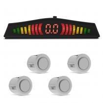 Sensor de Estacionamento 4 Pontos Pérola Com Display de Led Colorido Meia Lua Universal - Tech one
