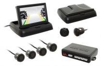 """Sensor de Estacionamento c/câmera Flip-Down Tela 4,3"""" Preto - Overvision"""