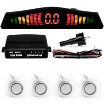 Sensor De Estacionamento TechOne Prata 4 Pontos Display Led -