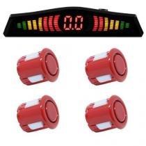 Sensor de Ré 4 Pto Display Led Cinoy 18Mm Yn-Sr002vm Vermelho -