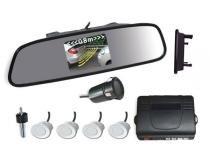 Sensor de Ré com Retrovisor e câmera 4 Pontos Branco - Xtune