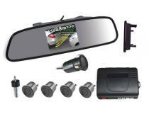 Sensor de Ré com Retrovisor e câmera 4 Pontos - Cinza - Xtune