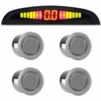 Sensor de Ré Estacionamento Universal 4 Pontos Display Led - Conforme estoque disponível