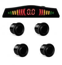 Sensor Estacionamento Ré 4 Sensores Display Led e Sinal Sonoro - Preto - Cinoy