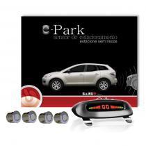 Sensor estacionamento traseiro cromado display teto 4 pontos orbe -