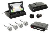 Sensor Re Estacionamento c/câmera Flip-Down Tela 4,3 Prata - Overvision