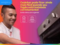 Serviço de instalação de fogão sem kit (com conversão) Cdf