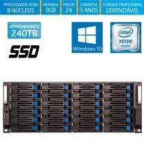 Servidor-Storage Silix X1200H24 V6 Intel Xeon 3.5 Ghz / 8GB / SSD / 240TB / RAID / Hot-Swap / Win 10 -