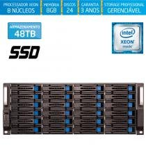 Servidor-Storage Silix X1200H24 V6 Intel Xeon V6 3.5 Ghz / 8GB DDR4 / SSD / 48TB / RAID / Hot-Swap -