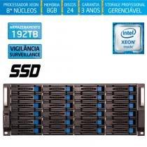 Servidor-Storage Silix X1200H24 V6 Intel Xeon V6 3.5 Ghz / 8GB / SSD / 192TB Vigilância / RAID -