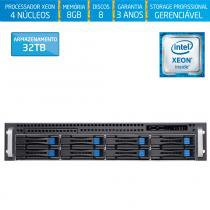 Servidor-Storage Silix X1200H8 V6 Intel Xeon E3 V6 3.0 Ghz / 8GB / 32TB / RAID / Rack 2U / Hot-Swap -