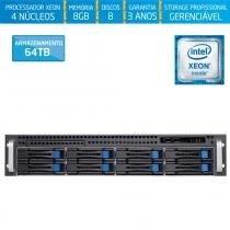 Servidor-Storage Silix X1200H8 V6 Intel Xeon E3 V6 3.0 Ghz / 8GB / 64TB / RAID / Rack 2U / Hot-Swap -