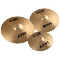 Set de Pratos 3 Peças Krest Deep Cult - Ride 20/Crash 16/Hi-Hat 14 + 1 Bag de Transporte