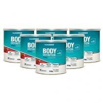 Shake para Emagrecer em Pó Body Definition 450g Sabor Morango 6 Unid - Saúde Garantida