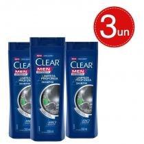 Shampoo Anticaspa Clear Men Limpeza Profunda 200ml Leve 3 Pague 2 -