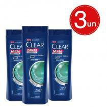 Shampoo Clear Men Anticaspa Limpeza Diária 2 Em 1 400ml Leve 3 Pague 2 -