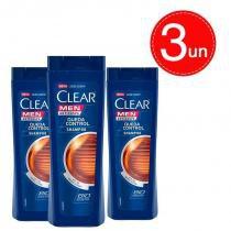 Shampoo Clear Men Anticaspa Queda Control 400ml Leve 3 Pague 2 -