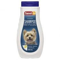 Shampoo Para Animais Antipulgas 500ml - Sanol -