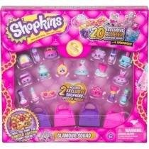 Shopkins Glamour Kit 20 Mini Figuras Sortidas +4 sacolinhas DTC -