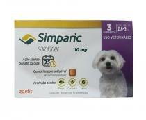 Simparic 10mg Zoetis 3 comp - Antipulgas Cães - Descrição marketplace -