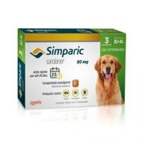 Simparic 80mg Anti Pulga e Carrapato Cães de 20 a 40kg 3 comprimidos - Zoetis