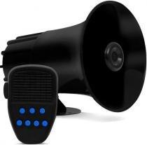 Sirene Automotiva 7 Tons Microfone Sons Policia Bombeiro Som - IMPORTADO