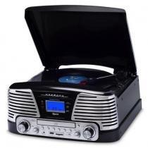 Sistema de Áudio Bluetooth c/Toca-Discos 3 rotações, FM, CD, Pendrive e SD Card ( Reproduz e Grava) - Raveo
